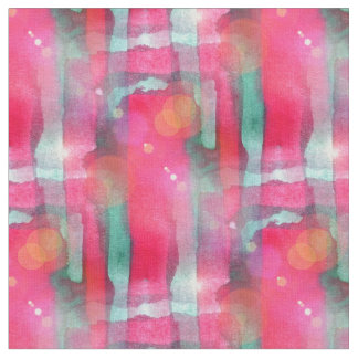 Sun glare abstract painted watercolor fabric