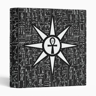 Sun God Egyptian Hieroglyphics Occult Goth Binder