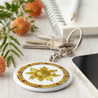 Sun God NEW AGE Basic Round Button Keychain