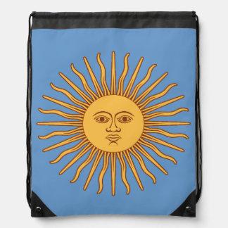 Sun God Symbol Drawstring Bag