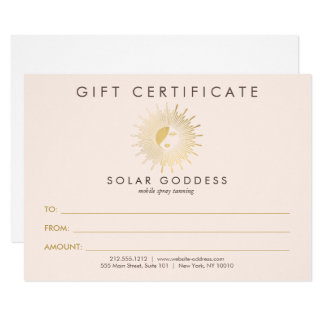 Sun Goddess Girl Logo Spray Tanning Pink Gift Card