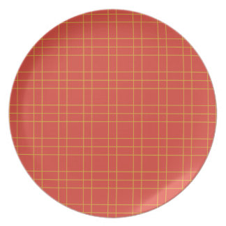 SUn gold and cherry red plaid #bakeacherrypie Party Plates