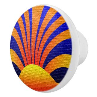 Sun Graffiti Ceramic Knob
