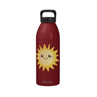 Sun heureux mignon bouteille d'eau