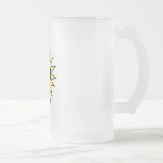 Sun in glasses frosted glass beer mug