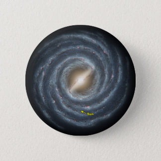 Sun in  the Milky Way NASA 2 Inch Round Button