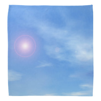 Sun in the sky background - 3D render Bandana
