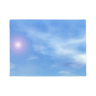 Sun in the sky background - 3D render Doormat