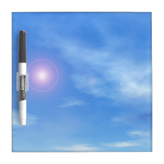 Sun in the sky background - 3D render Dry Erase Board