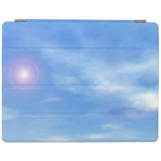 Sun in the sky background - 3D render iPad Cover