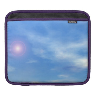 Sun in the sky background - 3D render iPad Sleeve