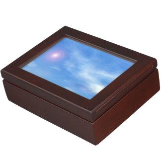 Sun in the sky background - 3D render Keepsake Boxes