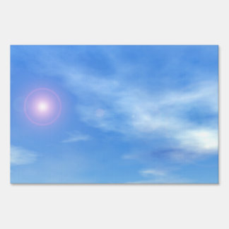 Sun in the sky background - 3D render Sign