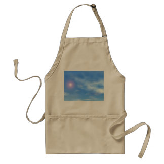 Sun in the sky background - 3D render Standard Apron