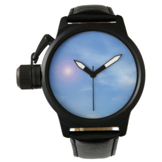 Sun in the sky background - 3D render Watches