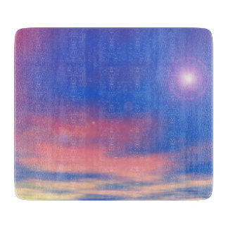 Sun in the sunset sky background - 3D render Boards