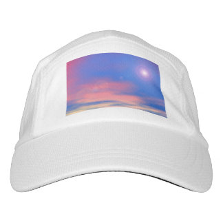 Sun in the sunset sky background - 3D render Hat
