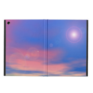 Sun in the sunset sky background - 3D render iPad Air Cover