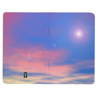 Sun in the sunset sky background - 3D render Journal
