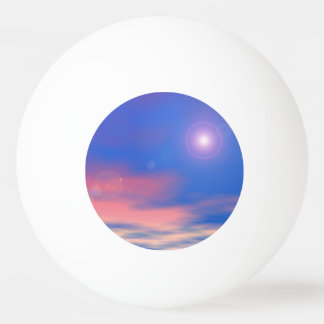 Sun in the sunset sky background - 3D render Ping Pong Ball