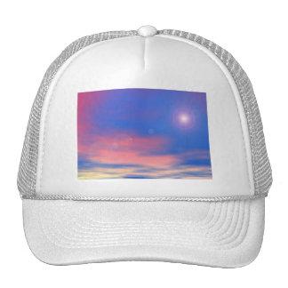 Sun in the sunset sky background - 3D render Trucker Hat