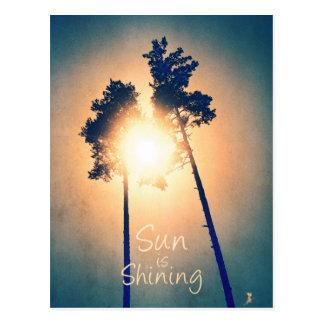 Sun is shining postcard