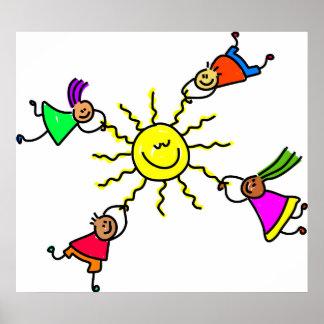 Sun Kids Posters