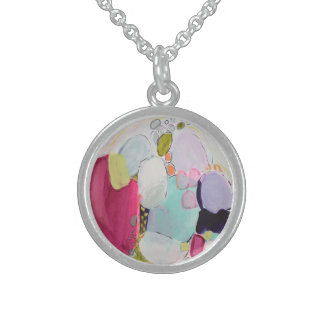 Sun Kissed Beach Glass Sterling Silver Necklace