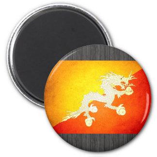 Sun kissed Bhutan Flag Magnet