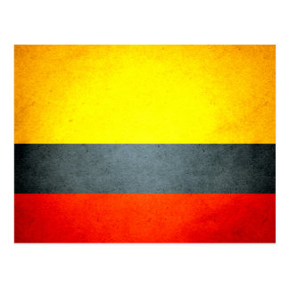 Sun kissed Colombia Flag Postcard