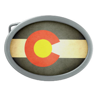 Sun kissed Colorado Flag Oval Belt Buckle