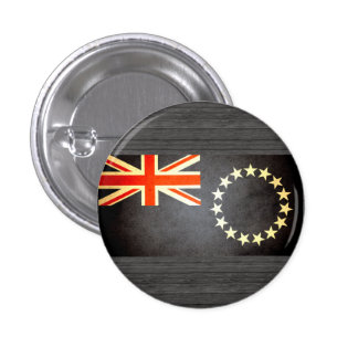 Sun kissed Cook Islands Flag Pinback Button