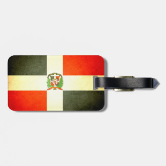 Sun kissed Dominican Republic Flag Luggage Tag