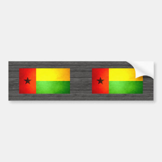 Sun kissed Guinea-Bissau Flag Bumper Sticker