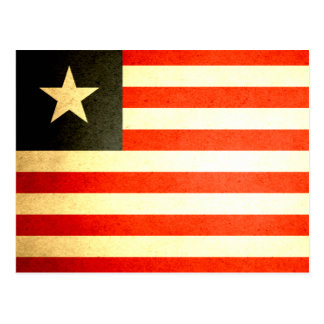 Sun kissed Liberia Flag Postcard