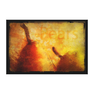 Sun-Kissed Pair of Pears Art Canvas