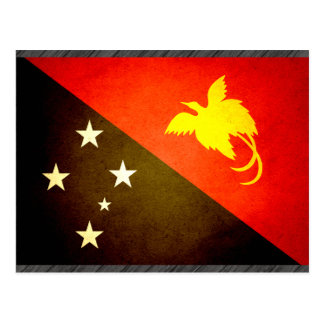 Sun kissed Papua New Guinea Flag Postcard