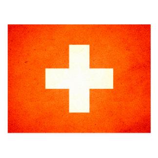 Sun kissed Switzerland Flag Postcard
