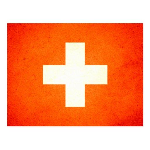 Sun kissed Switzerland Flag Post Cards