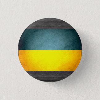 Sun kissed Ukraine Flag 1 Inch Round Button