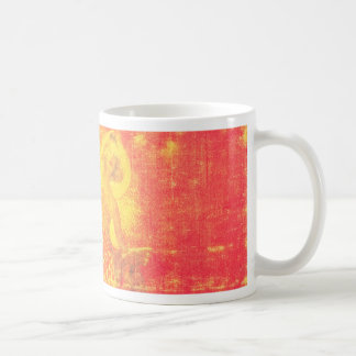 Sun Lady Red and Yellow Art Mug