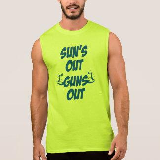 Sun lance la pièce en t sans manche tee-shirt sans manches