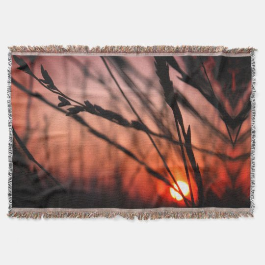 Sun landscape photo Throw Blanket