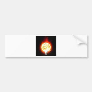 Sun Lightbulb Bumper Sticker