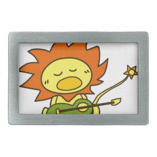 Sun lion belt buckle