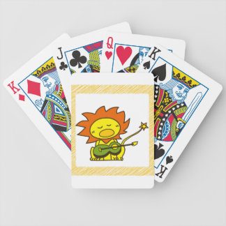 Sun lion bicycle playing cards