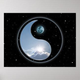 Sun-Lune Yin Yang Poster