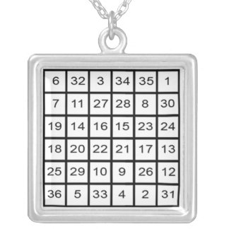 Sun Magic Square Necklace