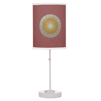 sun mandala table lamp