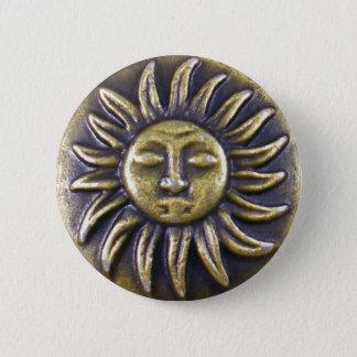 Sun Medallion 2 Inch Round Button